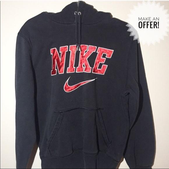 Vintage Nike top logo sweatshirt hoodie M L